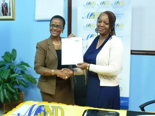 MOU Signing betweej IAF Jamaica Chapter and MIND