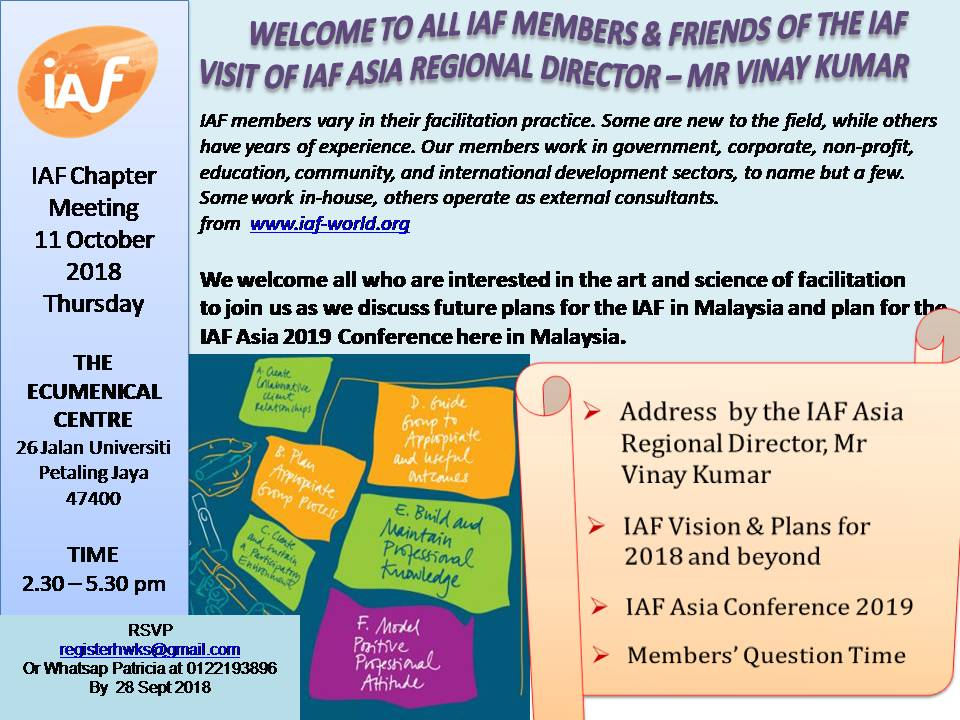 chapter meeting - visit of IAF Regional Director